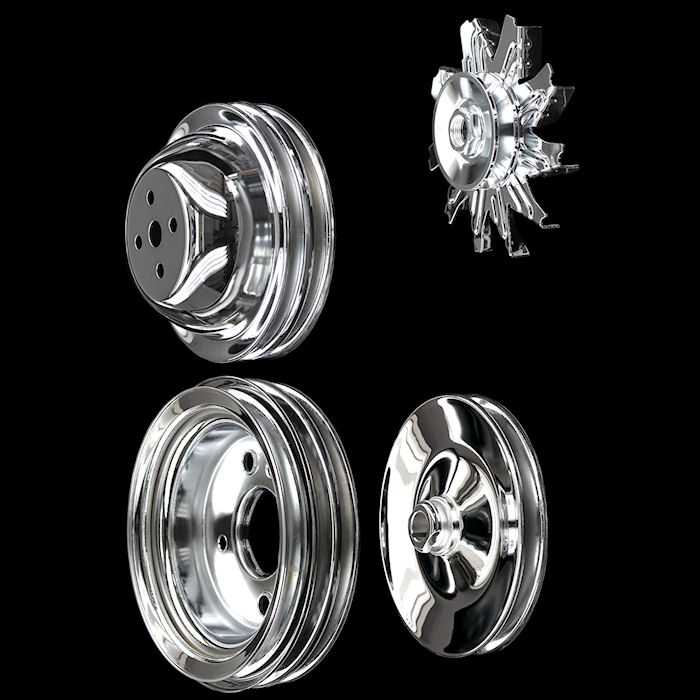 Chrome Chevrolet pulleys sets