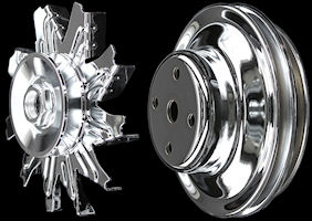 BB Chevy chrome pulleys