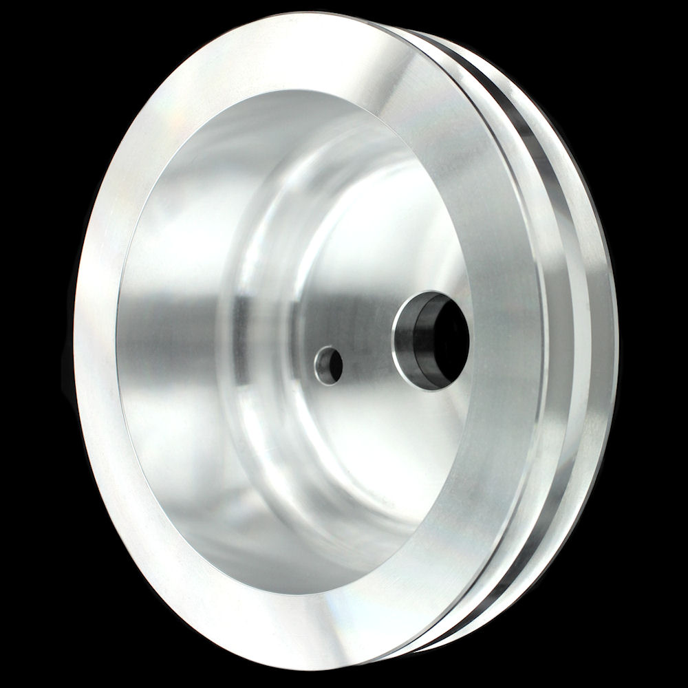 MCC911 Billet SB Chevy Double Groove Crankshaft Pulley