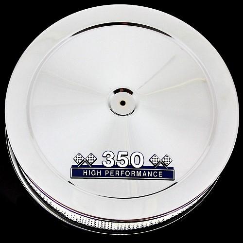 Pontiac 350 Emblem : Mcc b p chrome blue emblem pontiac air cleaner