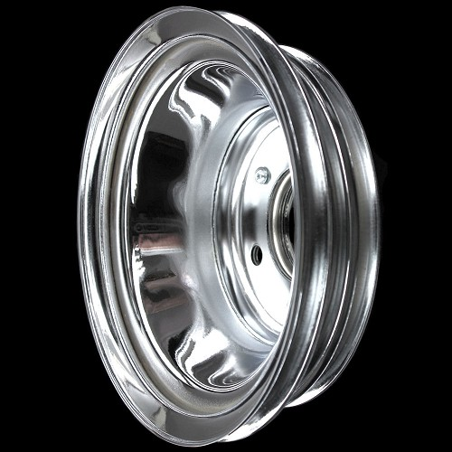 MCC538 BB Chevy Triple Groove Crankshaft Pulley Long Water