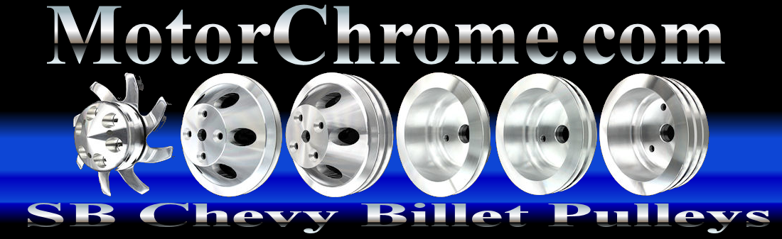 billet small block chevy pulleys long water pump