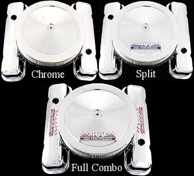 Valve Covers for Pontiac 326 350 400 428 400 455 Chrome Factory Height