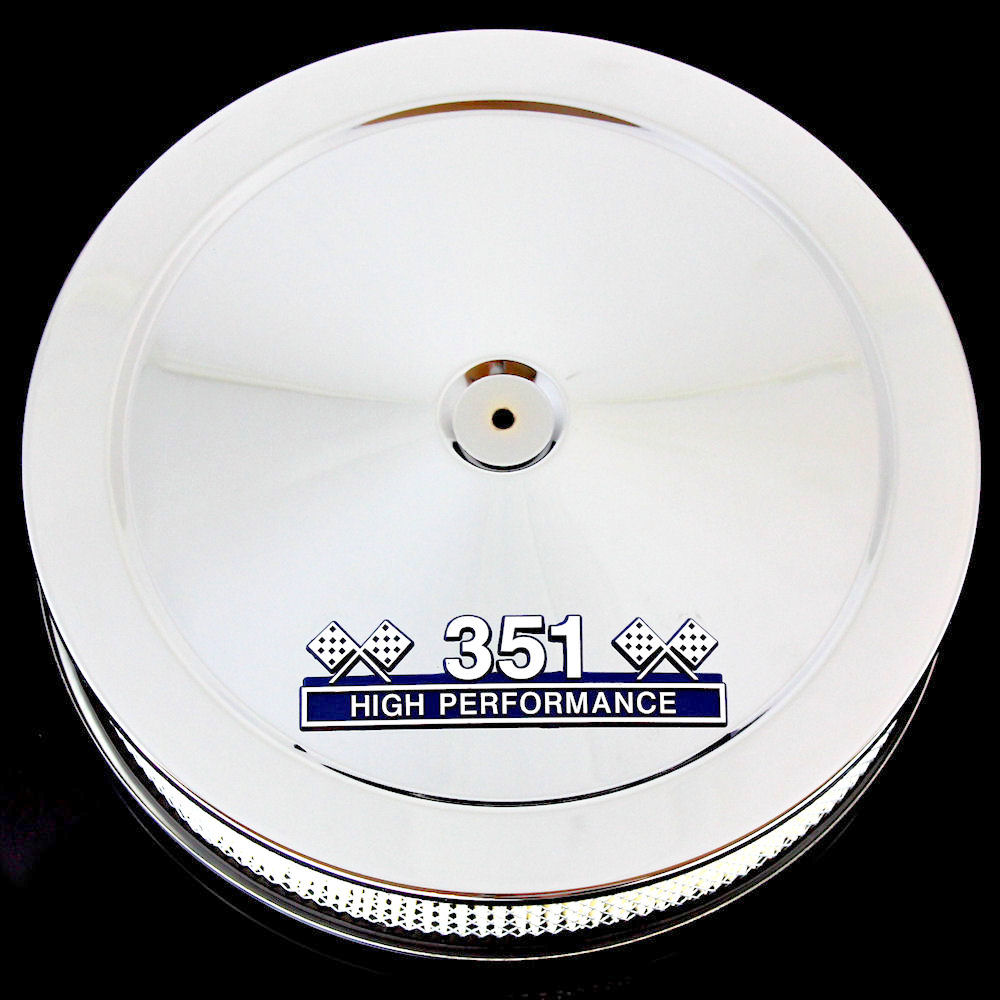 Chrome air cleaner with 351 emblem for Ford 351 Windsor engines