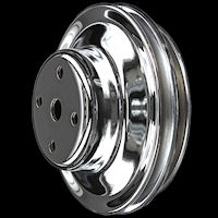 BB Chevy chrome pulleys long waterpump