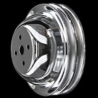 BB Chevy chrome pulleys short water pump