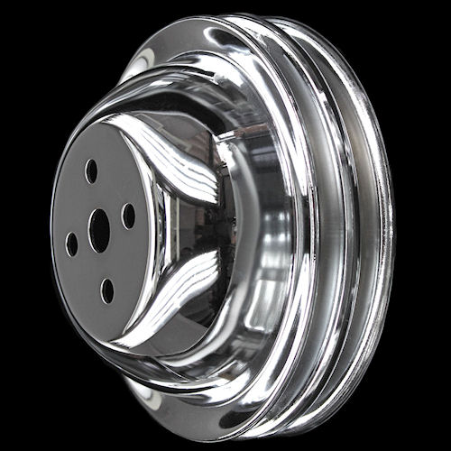 Big Block Chevy Chrome Short Water Pump Pulleys 396 427 454