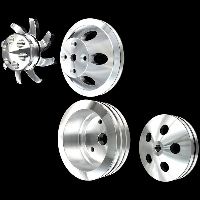 Billet Chevrolet pulleys sets