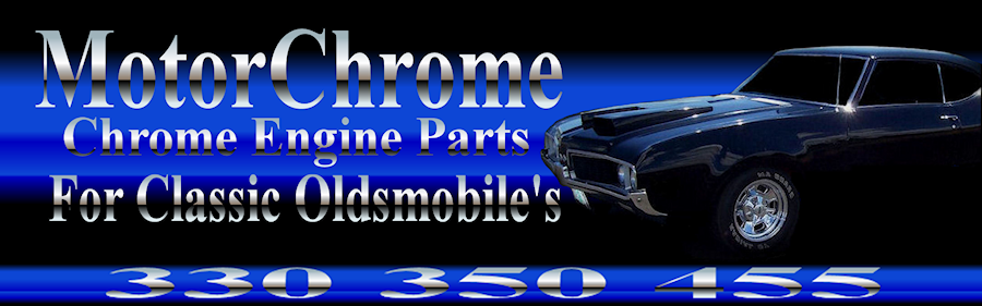 chrome Olds valve covers air cleaner cutlass oldsmobile