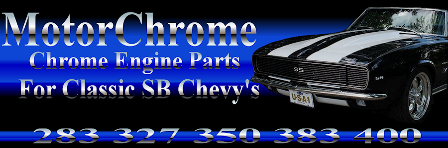 small block chevy chrome engine parts 283 327 350 383 400