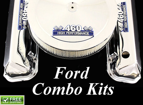 chrome parts for ford engines air cleaners valve covers oil pans and more