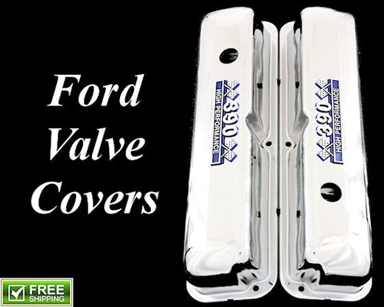 ford valve covers chrome