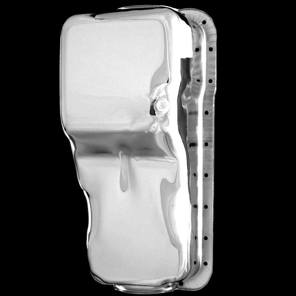 Chrome oil pan for small block ford engines 351 Windsor front sump
