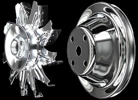 sbc pulleys chrome