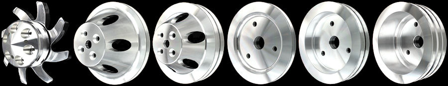 big block chevy billet short water pump pulleys 396 427 454