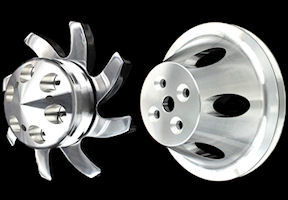 SB Chevy short water pump billet pulleys