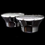 MCC149X2 Chrome dual velocity stack air cleaners