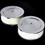 MCC295X2 Air cleaners 6 inch Ford Chevy Mopar Pontiac Olds pair