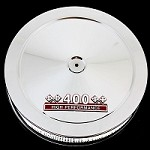 MCC61R-3C Chrome air cleaner with red 400 emblem for small block Chevy 400