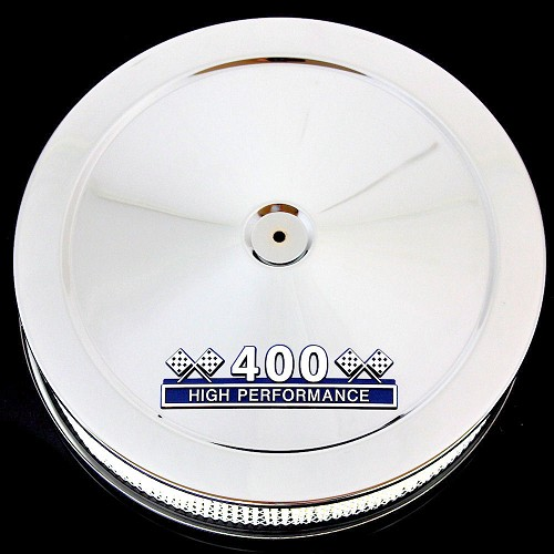 MCC61b-3f Chrome air cleaner with 400 emblem for Ford 400 M engines