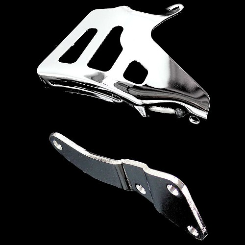 MCC0647580 chrome big block chevy alternator bracket set long water pump passenger side
