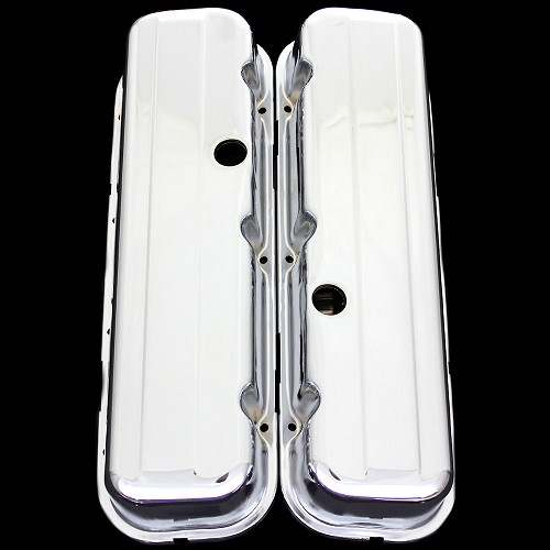 MCC108T chrome big block chevy tall valve covers fits 396 427 454 502 chevrolet