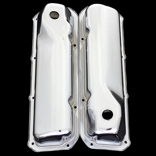 MCC113 Chrome 351 Cleveland valve covers fits Ford 351 Cleveland engines