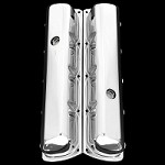 MCC122T chrome oldsmobile valve covers tall fits 330 350 455 olds
