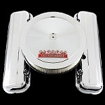 MCC166108S chrome big block chevy valve cover and 396 emblem air cleaner combo factory height