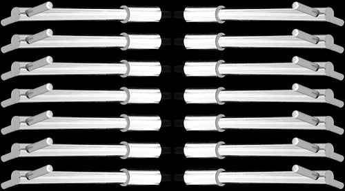 MCC202X14 chrome tall valve cover t handles for big block chevy 396 427 454 502 set of 14 t bolts
