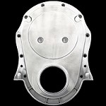 MCC302 polished aluminum big block chevy timing cover 396 427 454