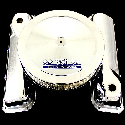 MCC433113 Chrome Cleveland valve covers and 351 emblem air cleaner Ford 351 C