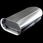 MCC5233 Polished aluminum Hilborn scoop for dual four barrels
