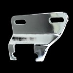 MCC566 chrome small block chevy alternator bracket set short water pump drivers side 1955-1969