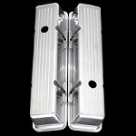 MCC6030 Polished aluminum small block Chevy ball milled tall valve covers