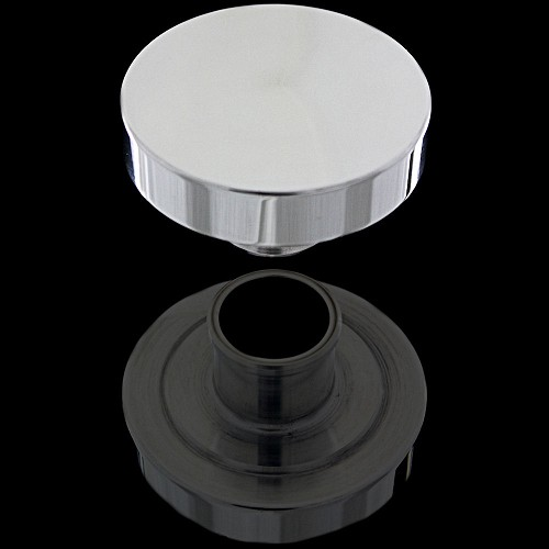 MCC6050 polished aluminum oil cap for sb and bb chevy aluminum valve covers