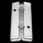 MCC6031 Polished aluminum Small block Chevy Valve Covers 327 350 383 400 Short