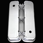 MCC6230 polished aluminum big block chevy valve covers tall ball milled 396 427 454 502