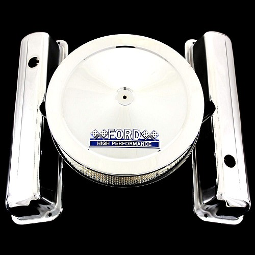 Chrome FE valve covers and Ford emblem air cleaner 352 390 428