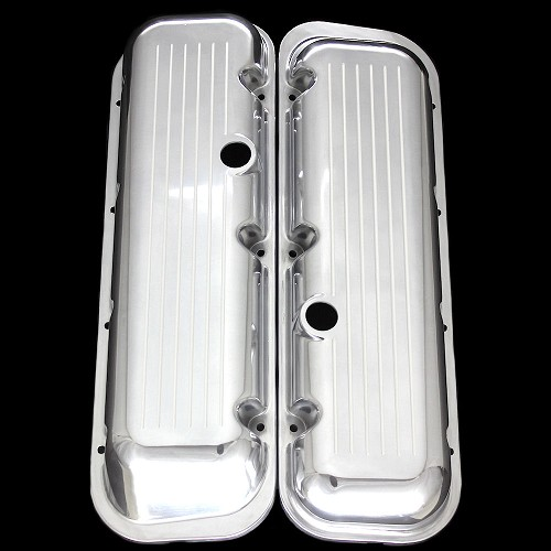 MCC6040 polished aluminum big block chevy valve covers ball milled 396 427 454 502 factory height