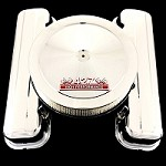 MCC663108T chrome big block chevy tall valve cover and 427 emblem air cleaner combo