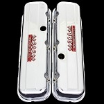 MCC67T chrome big block chevy 396 tall valve covers with 396 emblems chevrolet