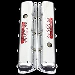 MCC74R chrome oldsmobile valve covers with 350 emblems red factory height