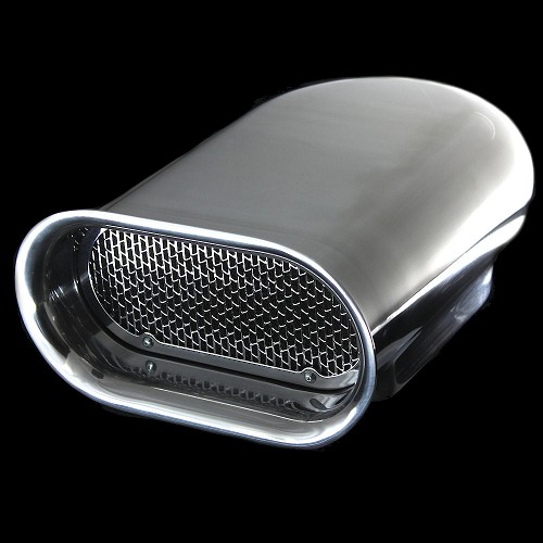 MCC5245 Polished aluminum Hilborn scoop for single four barrels smooth top