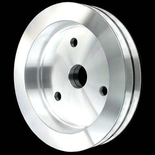 MCC906 Billet small block chevy crankshaft 2 groove pulley for short water pump