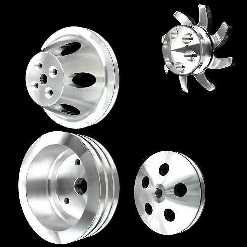 MCC907913916920922 Billet big block chevy pulley kit short water pump 4 pulley set 396 427 454