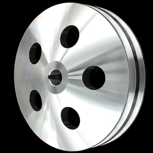 MCC921 Billet small and big block chevy 2 groove power steering pulley short and long pump