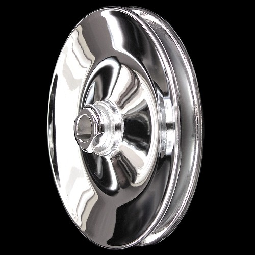 MCC923 Chrome small and big block chevy 1 groove power steering pulley short and long pump