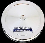 MCC50-3 Small block Ford 302 air cleaner chrome with 302 emblem