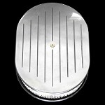 MCC6020 Polished aluminum oval air cleaner 12 inch  ball milled top